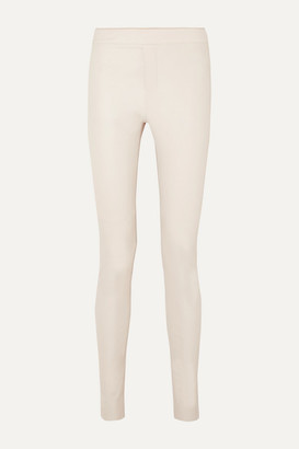 Remain Birger Christensen REMAIN Birger Christensen - Snipe Leather Skinny Pants - Ecru