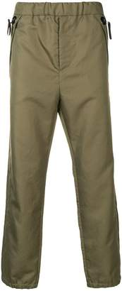 Oamc elasticated straight trousers