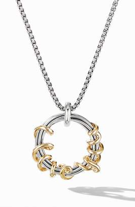 David Yurman Cable Collectibles I Love You Pendant Necklace with 14K Gold