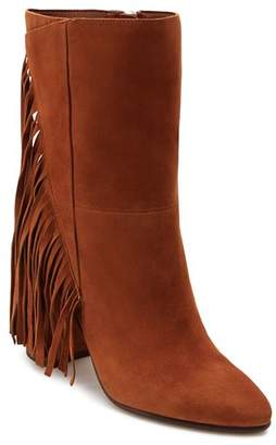 Dolce Vita Women's Short Fringe Almond Toe Suede High-Heel Boots