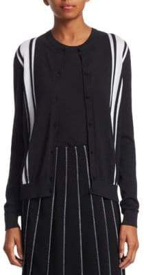 Piazza Sempione Two-Tone Stripe Cardigan
