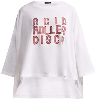 Undercover Acid Roller Disco Print Cotton T Shirt - Womens - White