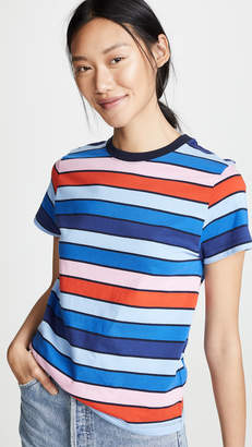 Tory Sport Striped Short Sleeve Tee