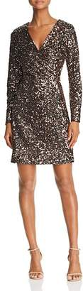 Sam Edelman Sequined Faux-Wrap Dress