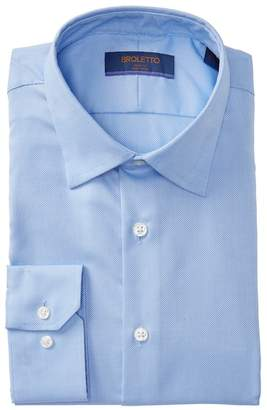 BROLETTO Oxford Solid Trim Fit Dress Shirt
