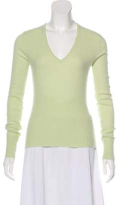 Chanel Cashmere Knit Sweater Green Cashmere Knit Sweater