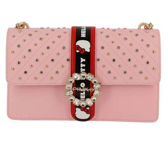 Pinko Crossbody Bags Bag Love Hello Kitty Jewel Crossbody In Smooth Leather With Mini Metal Studs And Rhinestones