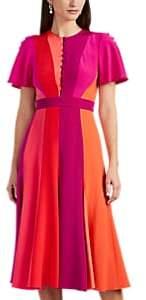 Prabal Gurung Women's Colorblocked Silk Midi-Dress - Red Multi