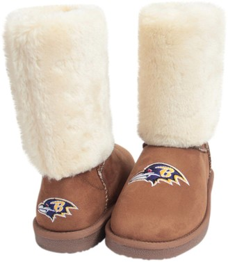 Unbranded Women's Cuce Tan Baltimore Ravens Fan Boot