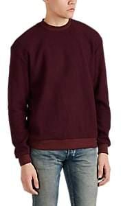 John Elliott Men's Rib-Knit Cotton-Blend Sweatshirt - Wine