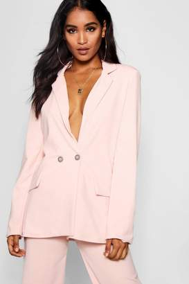 boohoo Evie Double Breasted Oversized Blazer