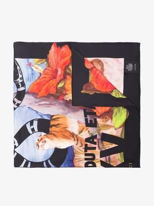 "Gucci Guccify Yourself"" print silk scarf"