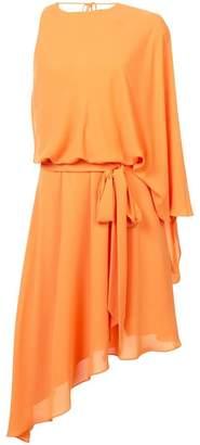 Halston asymmetric one-shoulder dress