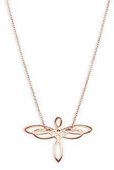 ginette_ny Women's Mini 18K Rose Gold Dragonfly Chain Necklace