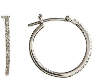 Carriere Sterling Silver Diamond 20mm Hoop Earrings - 0.16 ctw