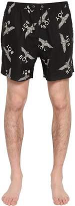 Boy London Logo Printed Swim Shorts