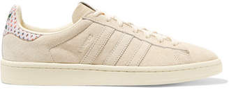 adidas Campus Pride Canvas-trimmed Suede Sneakers - Off-white