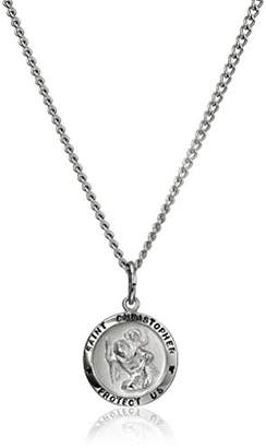 Stainless Steel Chain with Sterling Saint Christopher Pendant