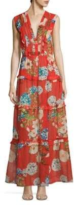 Nicholas Hydrangea Silk Maxi Dress
