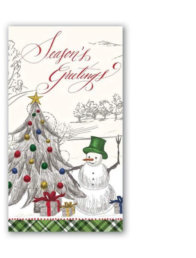 Seasons/greetings Hostess Napkins