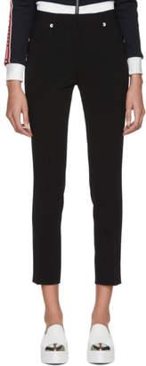 Miu Miu Black Flower Button Trousers