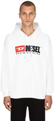 Diesel Logo Cotton Jersey Sweatshirt Hoodie