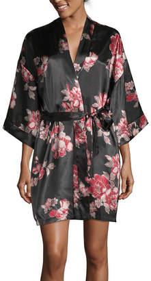 Ambrielle Satin Kimono Robe