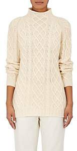 Barneys New York Women's Cashmere Cable-Knit Fisherman Sweater-Ivorybone