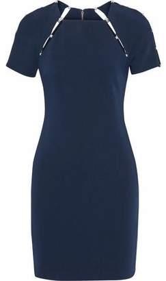 Alice + Olivia Kristiana Faux Pearl-Embellished Cutout Crepe Mini Dress