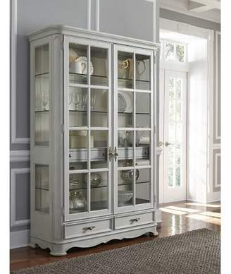 One Allium Way Artrip Painted Curio Cabinet