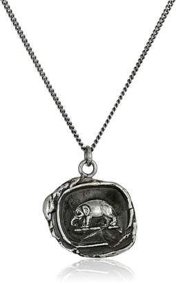 "Pyrrha talisman Sterling Elephant Necklace, 18"""