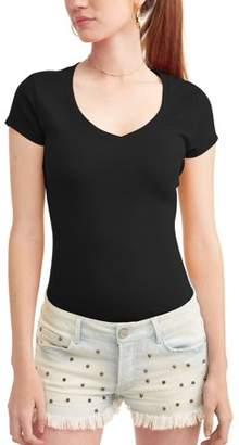 No Boundaries Juniors' Everyday V-Neck Short Sleeve T-Shirt