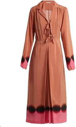 Marco De Vincenzo Contrast-panel silk crepe de Chine dress