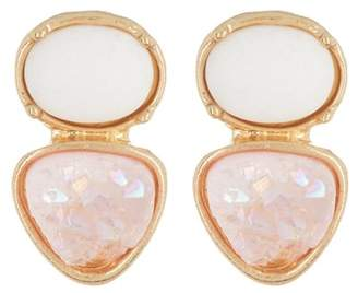 Melrose and Market Mixed Shape Druzy & Stone Stud Earrings