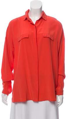 Robert Rodriguez Silk Button-Up Top