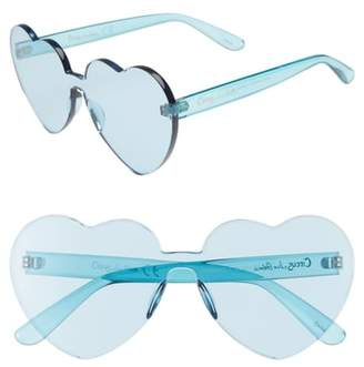 Sam Edelman 60mm Heart Shield Sunglasses