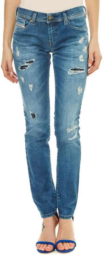 Francy - Jeans mit geradem Schnitt - jeansblau