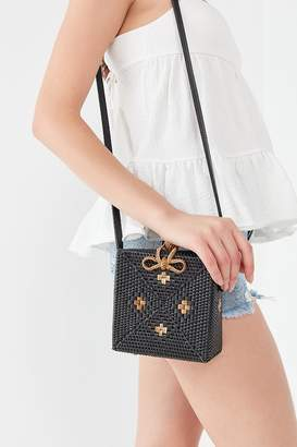 Urban Outfitters Harper Straw Square Crossbody Bag
