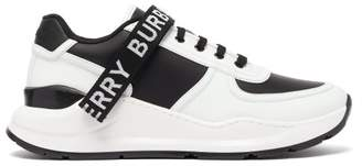 Burberry Ronnie Leather And Shell Trainers - Mens - White Black