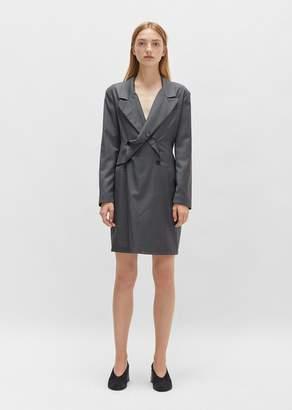 Aalto Pinstripe Blazer Dress Grey