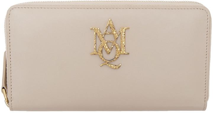 Alexander McQueenAlexander McQueen Pink Insignia Zip Around Wallet