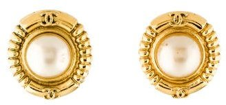 Chanel Chanel Pearl Clip-On Earrings