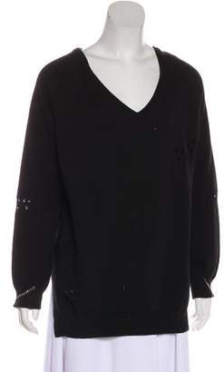 Thomas Wylde Distressed Oversize Sweater