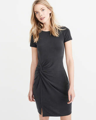 Abercrombie & Fitch Knot Front Tee Dress
