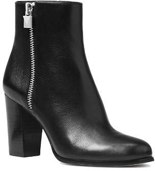 MICHAEL Michael Kors Women's Margaret Leather High Heel Booties