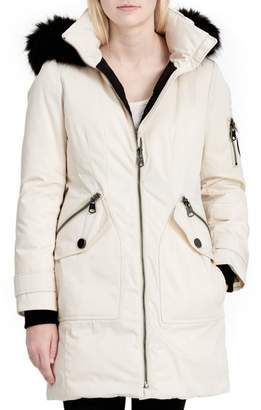 Calvin Klein Calvien Klein Hooded Down Parka with Removable Faux Fur Collar
