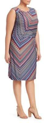 NIC+ZOE Plus Zig Zag Twist Dress