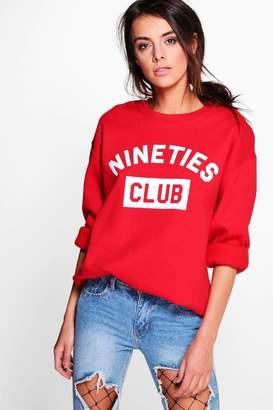 boohoo Slogan Sweatshirt