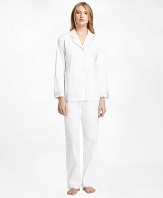 Brooks Brothers Cotton Long-Sleeve Pajama Set