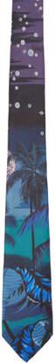 Paul Smith Navy Silk Hawaii Tie